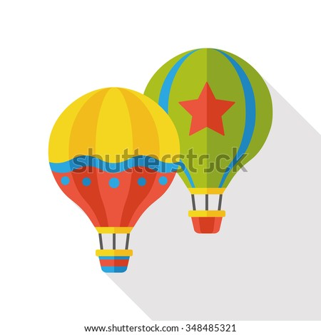 hot air balloon flat icon