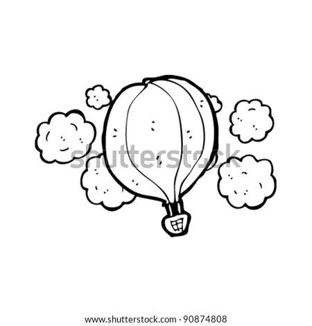 hot air balloon flying cartoon