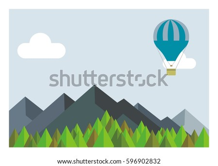 hot air balloon flying over the