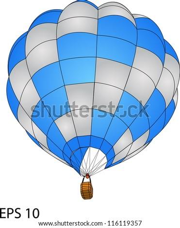 Hot Air Balloon Vector, EPS 10.