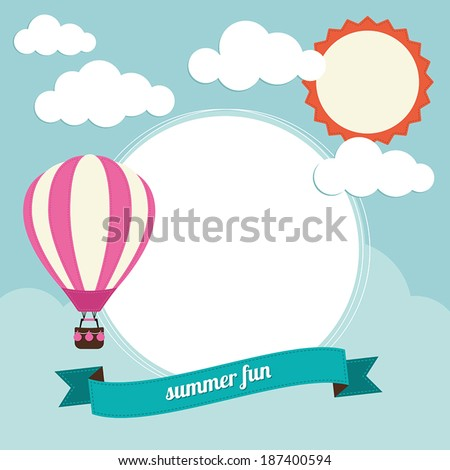 Hot air balloon with text box