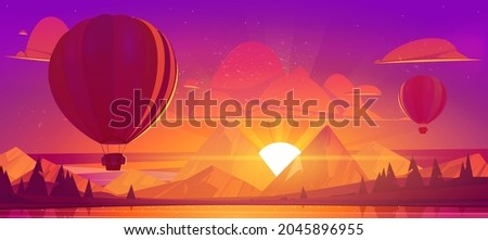 hot air balloons flying in