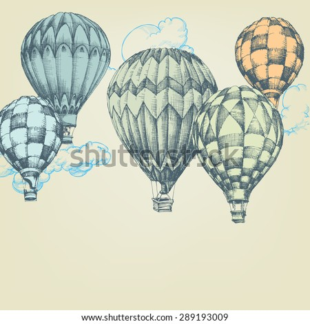 hot air balloons in the sky...