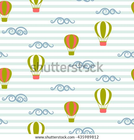 hot air balloons seamless