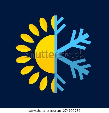 hot and cold temperature icon