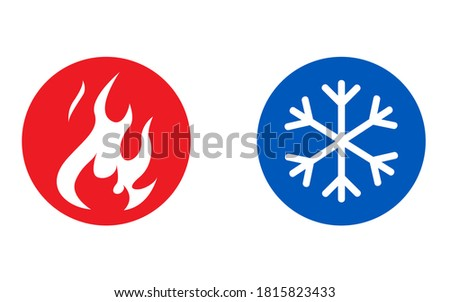 Hot and cold vector icon Foto d'archivio ©