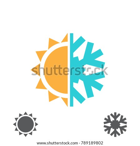 hot and cold vector