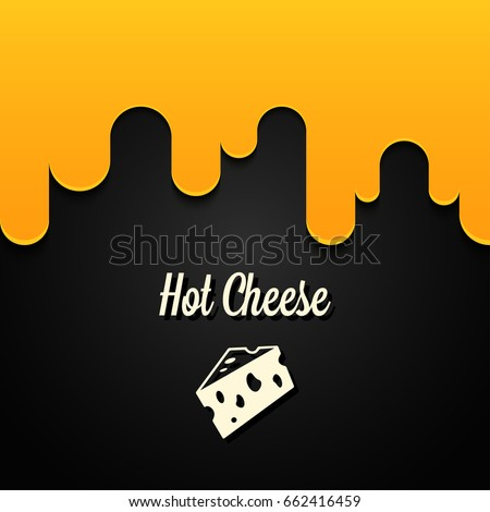 hot cheese logo design background