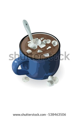 hot chocolate cup with
