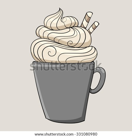 hot chocolate with cream and