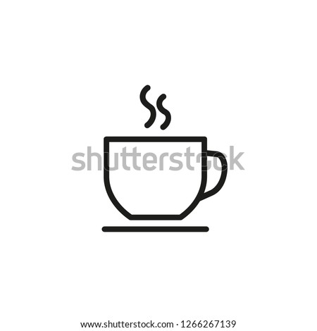 Hot coffee cup line icon. Tea, hot chocolate, cafe. Coffee concept. Vector illustration can be used for topics like drinks, menu, breakfast Foto stock ©