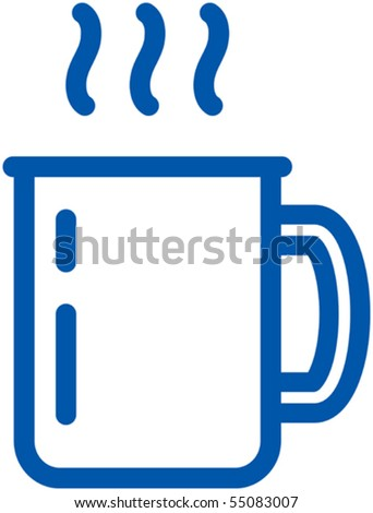 Hot cup vector icon
