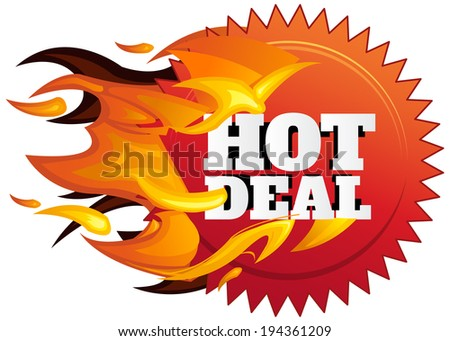 Hot Deal Label - Illustration