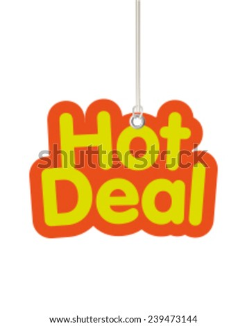 Hot Deal Shaped Label Hanging from Cord