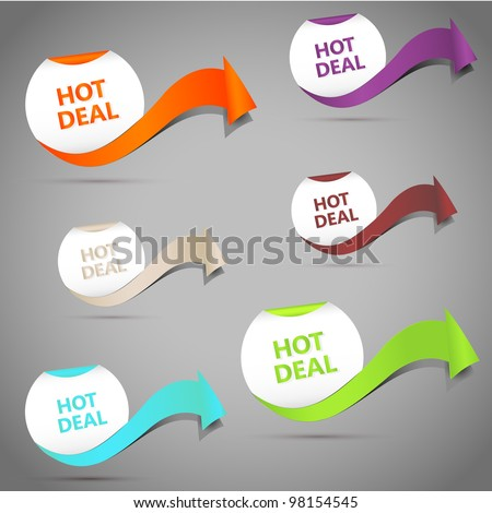Hot Deal. Vector Illustration