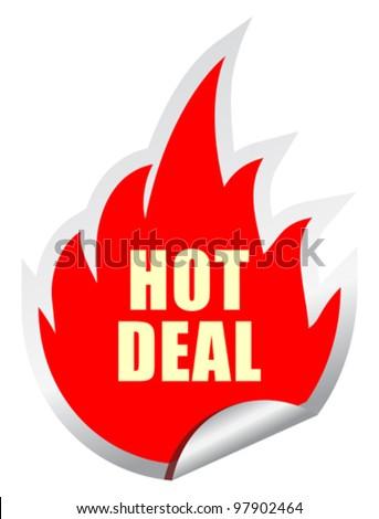 Hot deal vector sticker, eps10 illustration