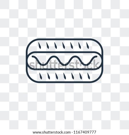Hot dog vector icon isolated on transparent background, Hot dog logo concept