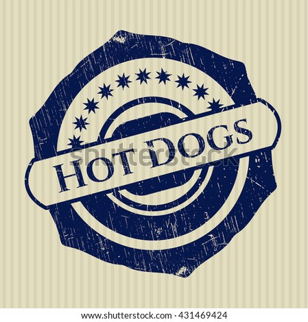 Hot Dogs grunge style stamp