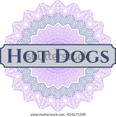 Hot Dogs inside a money style rosette