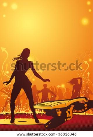hot female dancer in a