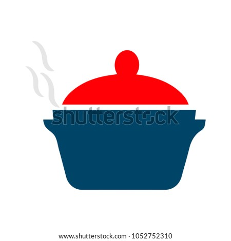 hot food pot illustration - cooking pan object