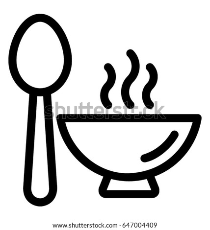 Hot Food Vector Icon