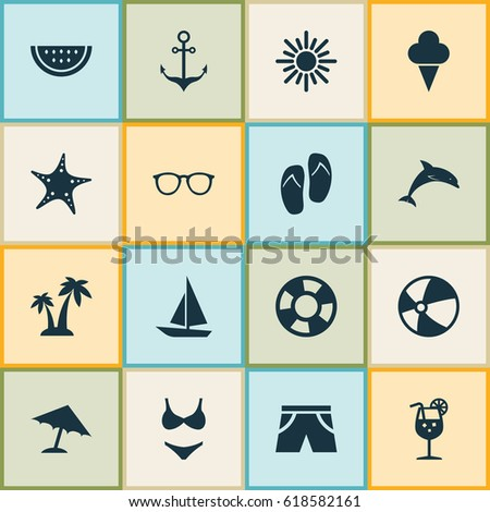 hot icons set collection of