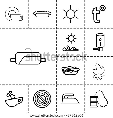 hot icons set of 13 editable