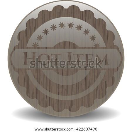 Hot Item retro wood emblem