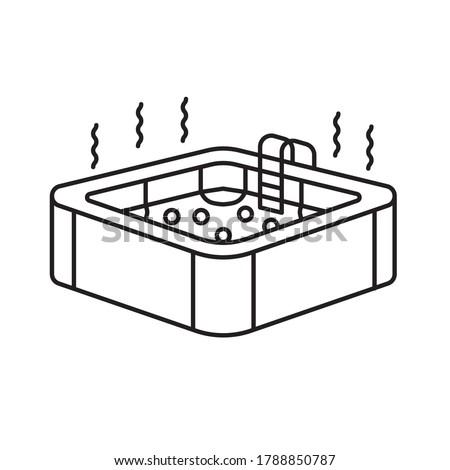 hot jacuzzi tub icon- vector illustration Photo stock ©