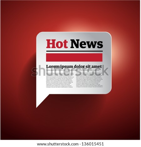 Hot News button vector illustration