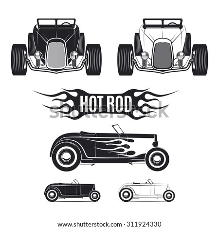 hot rod car templates for icons