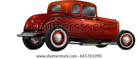 hot rod  fully editable and in