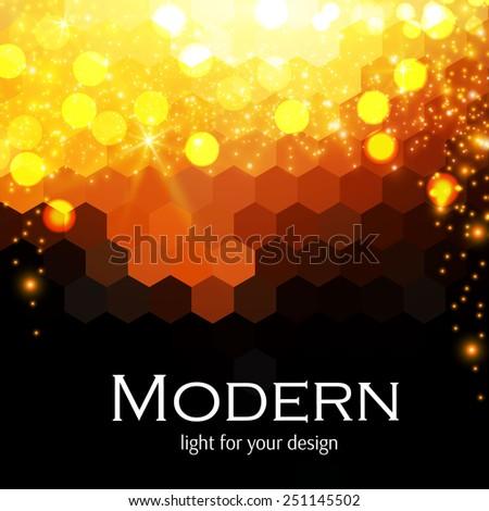 hot shining geometric pattern