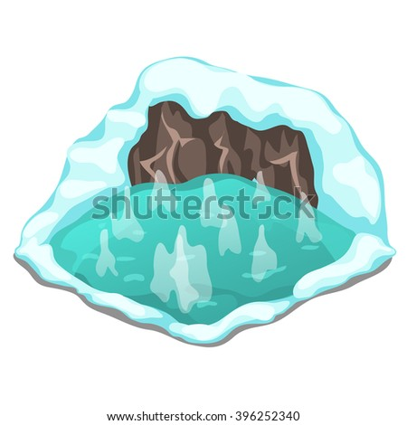 hot spring on an icy mountain
