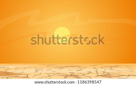 hot summer day  desert landscape