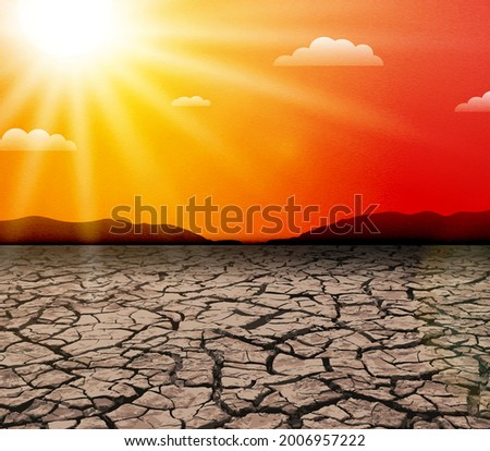 hot sun heat wave drought in