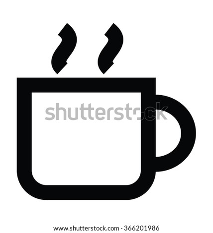 Hot Tea Bold Line Vector Icon