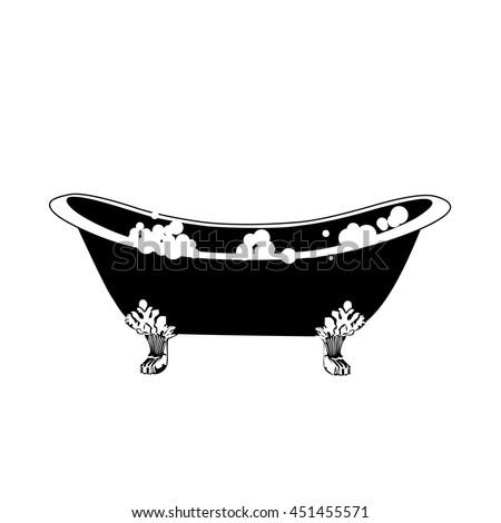 hot tub  bath icon. elegant...