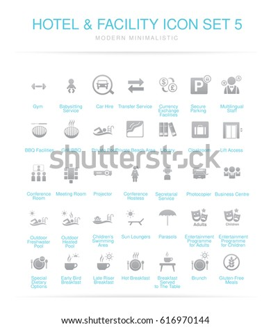 Hotel and Facilities icon set 5