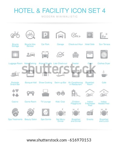 Hotel and Facilities icon set 4