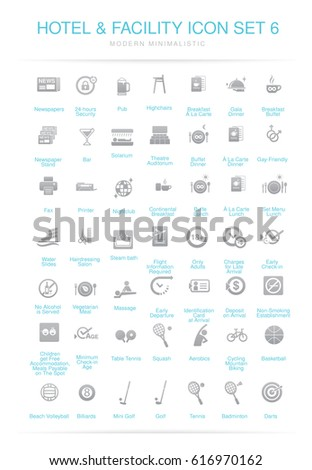 Hotel and Facilities icon set 6