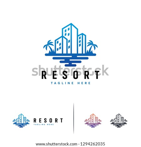 Hotel and Resort logo template, Building logo designs, Travel logo