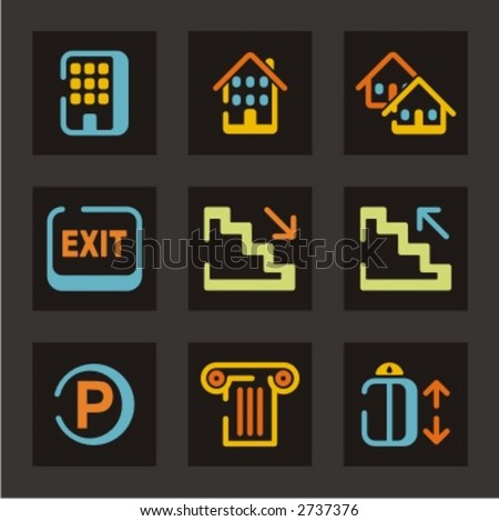 Hotel and tourism icons set. Check my portfolio for much more of this series as well as thousands of similar and other great vector items.