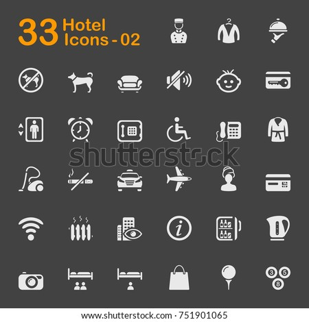 Hotel and vacation icons