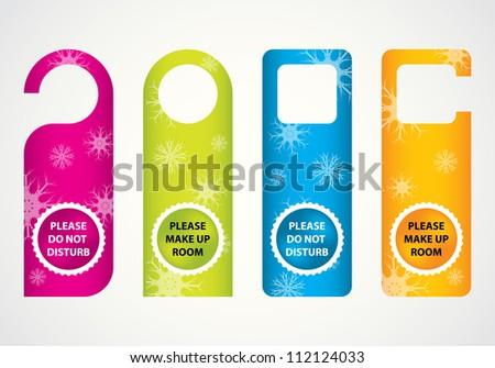 hotel do not disturb door hanger with special Christmas design