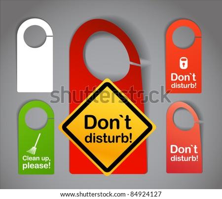 Hotel door signs