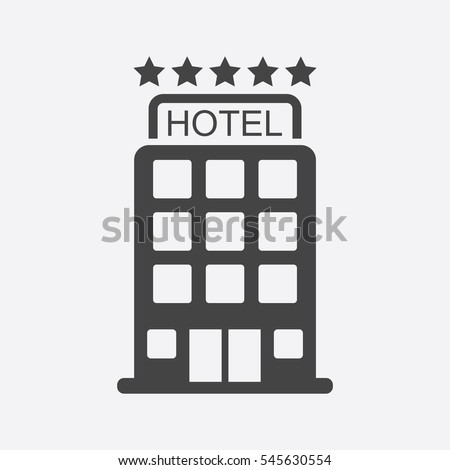 hotel icon isolated on white