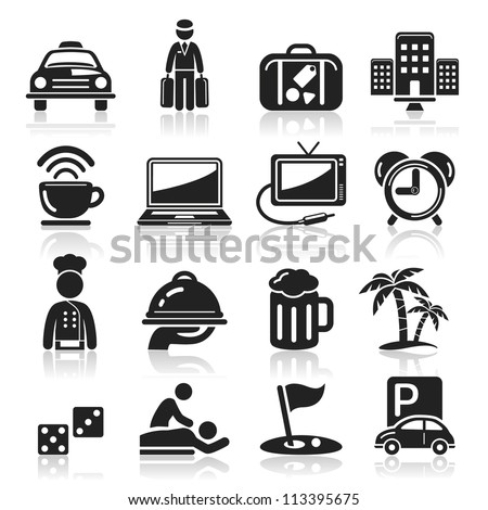 Hotel icons set5. vector eps 10