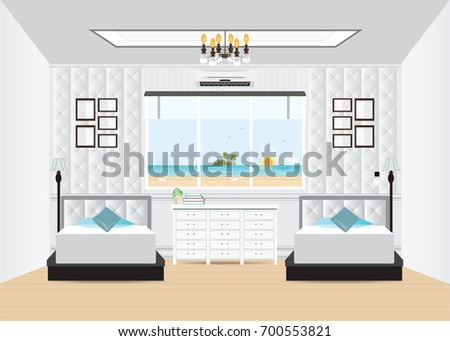 hotel interior room with double
